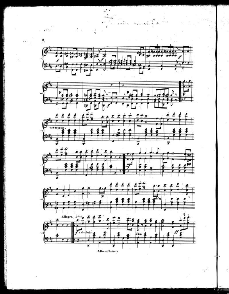 Adieu et retour [from] Lucia di Lammermoor