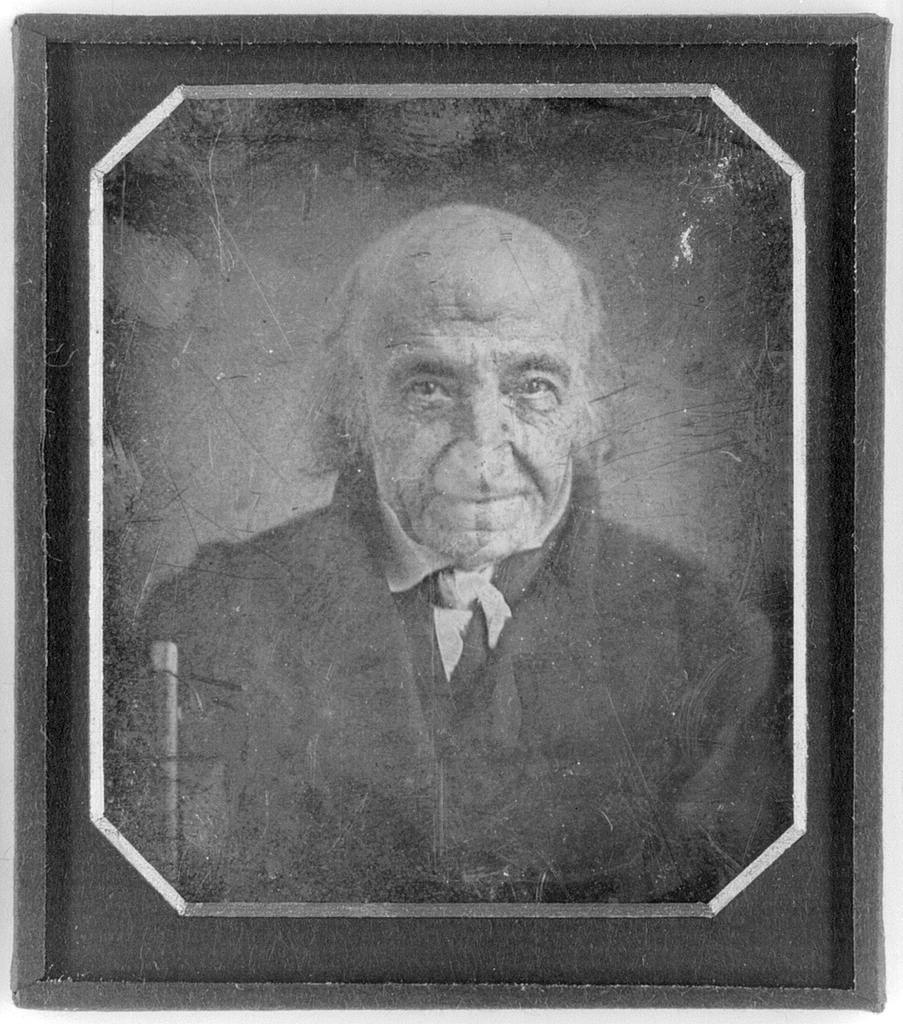 [Albert Gallatin, head-and-shoulders portrait, facing front, with walking stick]