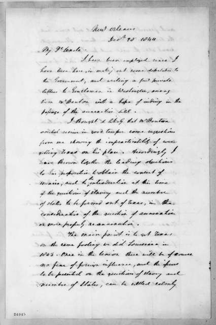 Andrew Jackson Donelson to Andrew Jackson, December 28, 1844