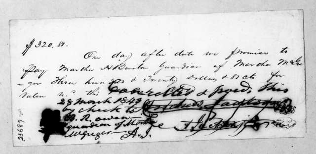 Andrew Jackson, Jr. to Martha H. (Donelson) Burton, October 1, 1844