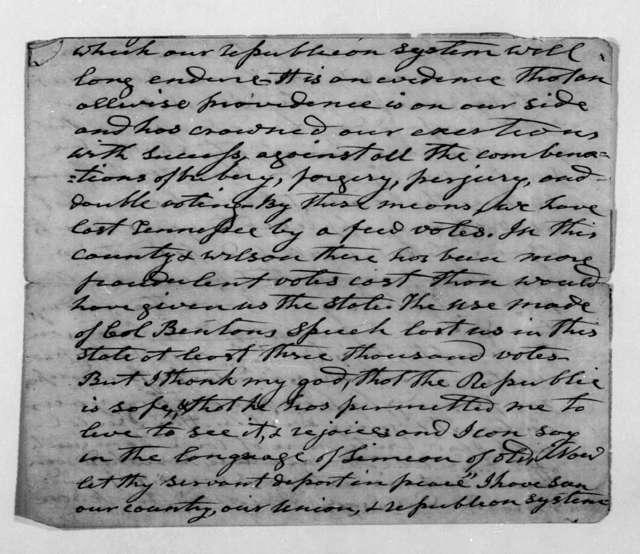 Andrew Jackson to Amos Kendall, November 23, 1844