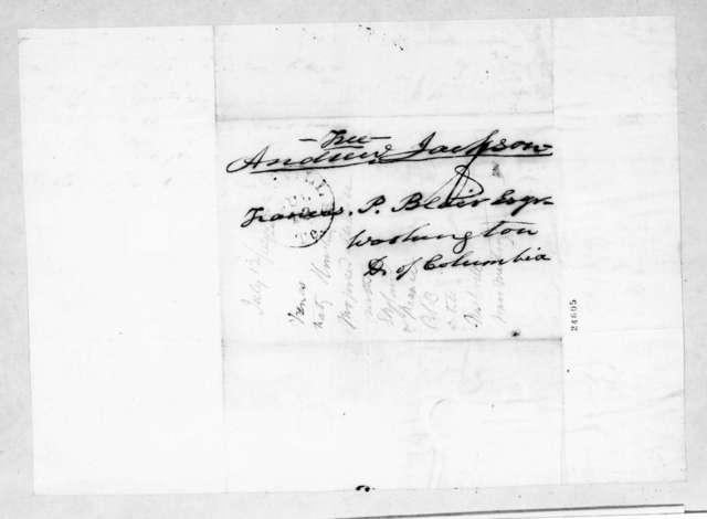 Andrew Jackson to Francis Preston Blair, July 12, 1844