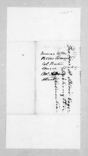 Andrew Jackson to Francis Preston Blair, November 29, 1844