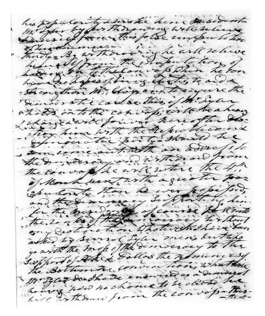 Andrew Jackson to John Young Mason, August 1, 1844