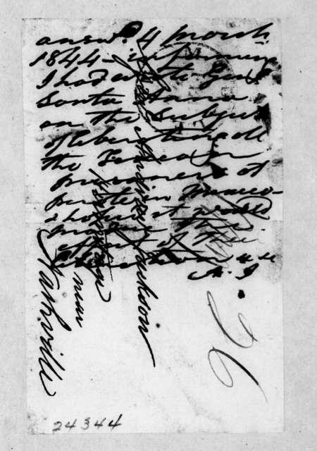 Antonio Lopez de Santa Anna to Andrew Jackson, March 4, 1844