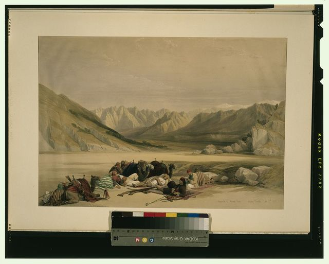 Approach to Mount Sinai Wady Barah Feby 17th 1839 / David Roberts, R.A.