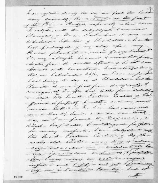 Arthur Peronneau Hayne to Andrew Jackson, July 23, 1844