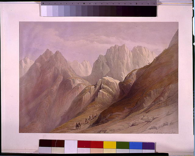 Ascent of the lower range of Sinai February 18th 1839 / David Roberts, R.A.