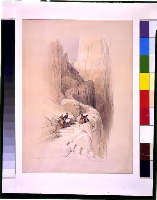 Ascent to the summit of Sinai Feby 20th 1839 / David Roberts, R.A.