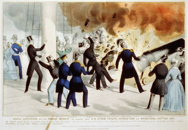 "Awful explosion of the ""peace-maker"" on board the U.S. Steam Frigate, Princeton, on Wednesday, 28th Feby. 1844"