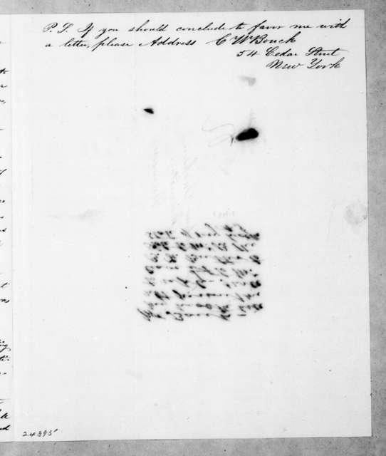 C. W. Bouck to Andrew Jackson, March 20, 1844