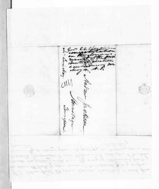 Clement Comer Clay to Andrew Jackson, November 23, 1844