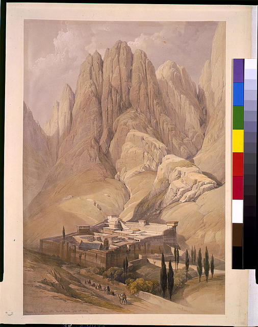 Convent of St. Catherine with Mount Horeb. Feb. 11th 1839 / David Roberts, R.A.