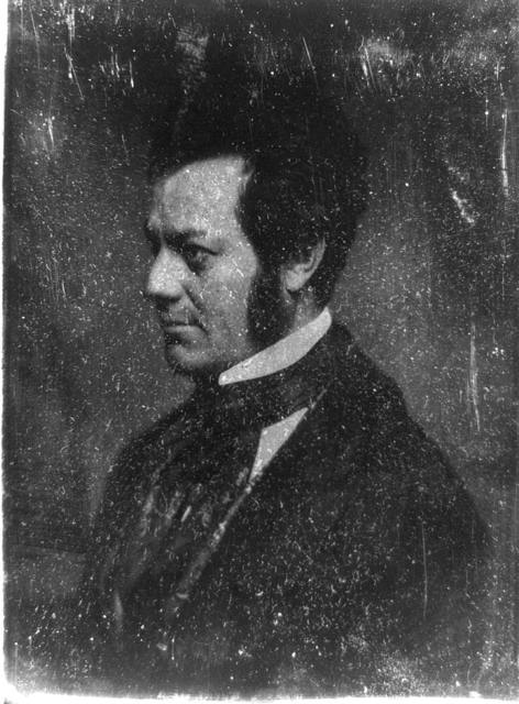 [Edwin Forrest, head-and-shoulders portrait, nearly in profile to the left]