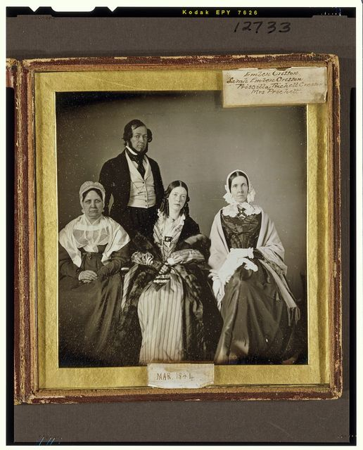 [Emlen Cresson, his mother Sarah Emlen Cresson, his wife Priscilla Prichett Cresson, and his mother-in-law Mrs. Edith Hatten Prichett in a group family portrait]