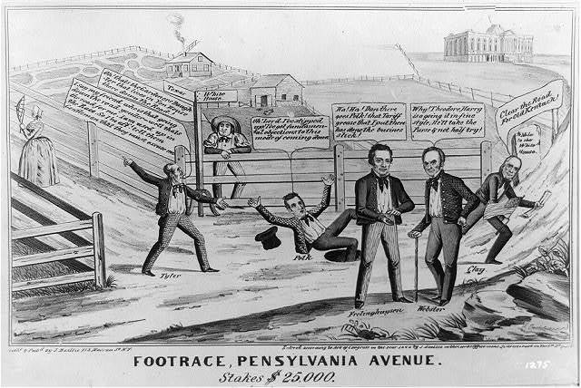 Footrace, Pennsylvania Avenue. Stakes $25,000
