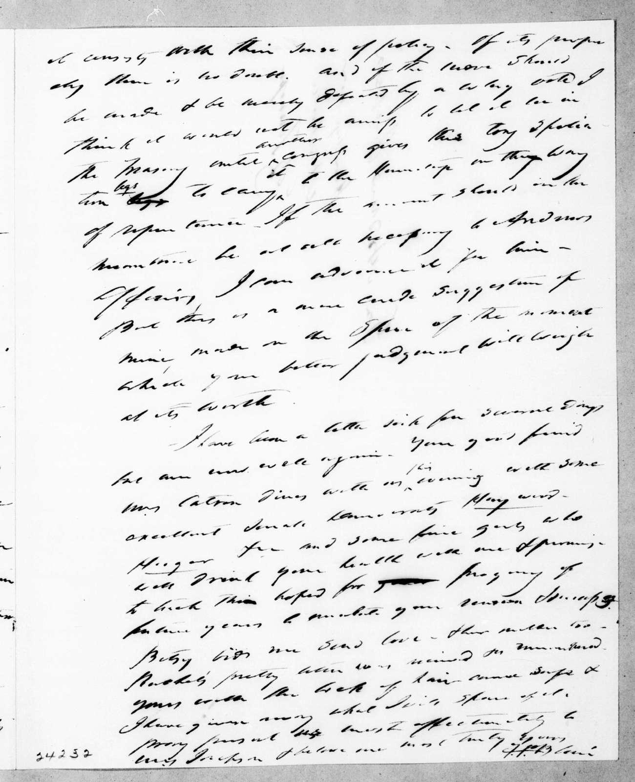 Francis Preston Blair to Andrew Jackson, February 11, 1844
