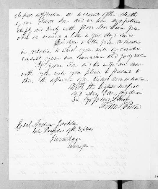 Franklin Pierce to Andrew Jackson, February 2, 1844