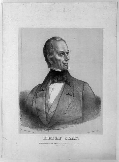 [Henry Clay, head-and-shoulders portrait, facing right] / from an original drawing by D. Dickinson ; D. Dickinson, lith.