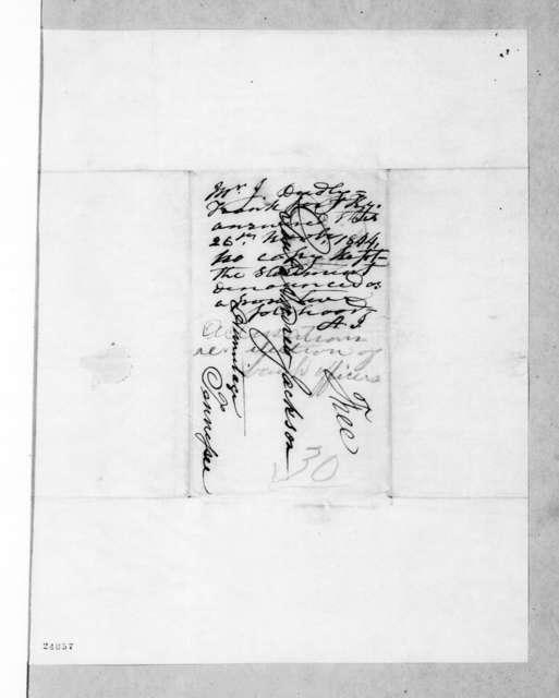 J. Dudley to Andrew Jackson, November 26, 1844