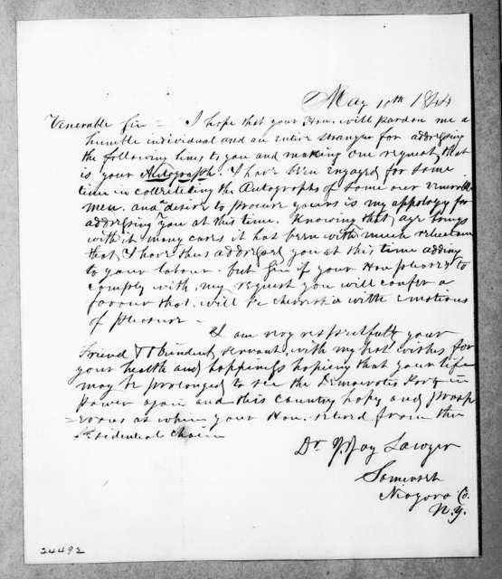 J. Jay Sawyer to Andrew Jackson, May 10, 1844