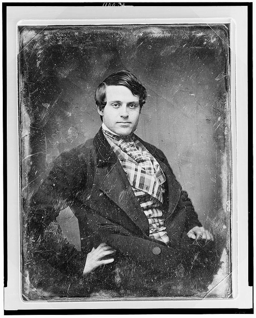 [James Brown, half-length portrait, three-quarters to the right, eyes front, one hand on hip, wearing plaid waistcoat]