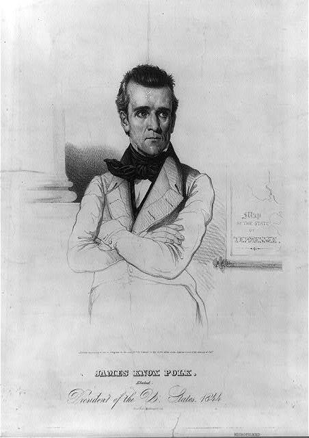 James Knox Polk. Elected President of the U. States. 1844 / Haas Lith. Washington City.