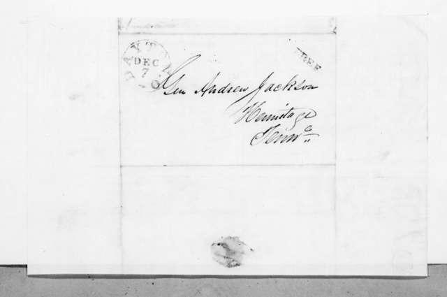 John Anderson to Andrew Jackson, December 4, 1844