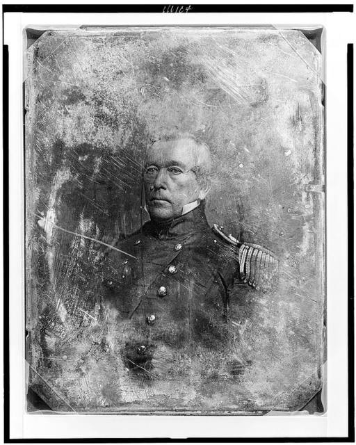 [John M. Washington, head-and-shoulders portrait, three-quarters to the left, in military uniform]