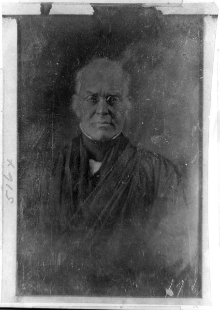 [Joseph Story, half-length portrait, facing front, with spectacles]