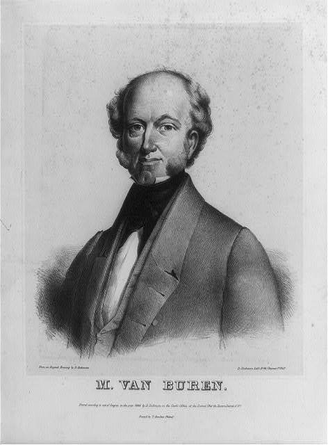 Martin Van Buren head-and-shoulders portrait, facing left / D. Dickinson, lith. ; from an original drawing by D. Dickinson.