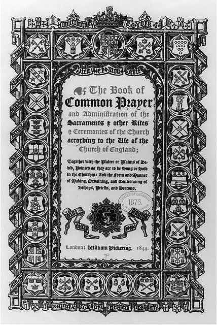 [Ornate title page of The Book of Common Prayer.]