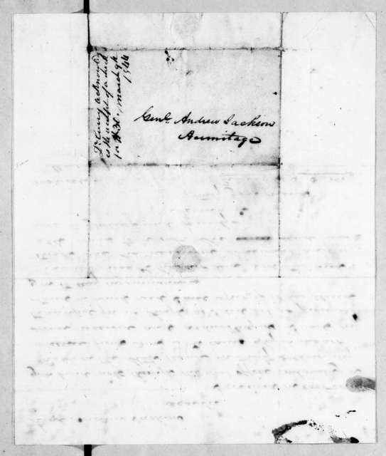 Richard Owen Currey to Andrew Jackson, March 9, 1844