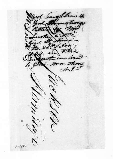 Robert Armstrong to Andrew Jackson, January 26, 1844