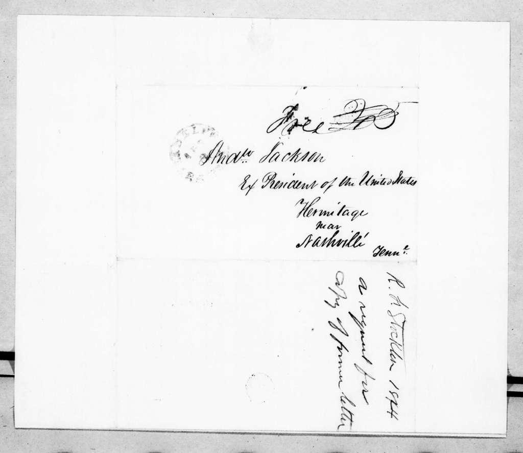 Robert Field Stockton to Andrew Jackson, April 4, 1844