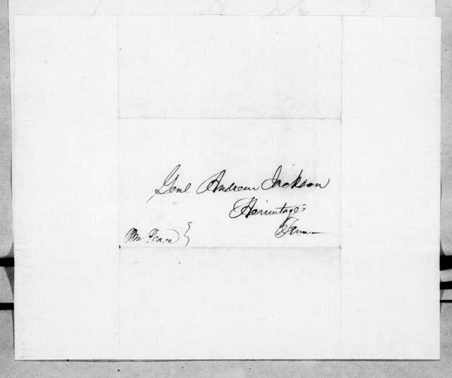 Robert Halsey to Andrew Jackson, September 2, 1844