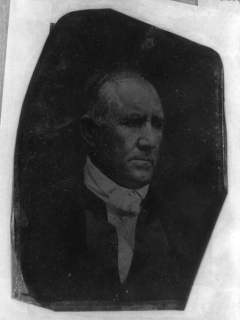 [Sam Houston, head-and-shoulders portrait, three-quarters to the right]