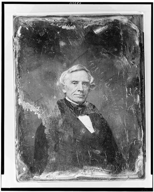 [Samuel F. B. Morse, head-and-shoulders portrait, facing front]