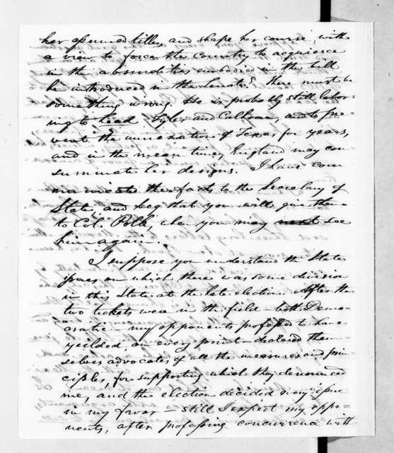 Shadrach Penn, Jr. to Andrew Jackson, September 10, 1844