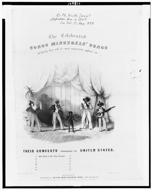 The celebrated Congo minstrels' songs / Thayer & Co's lith., Boston.