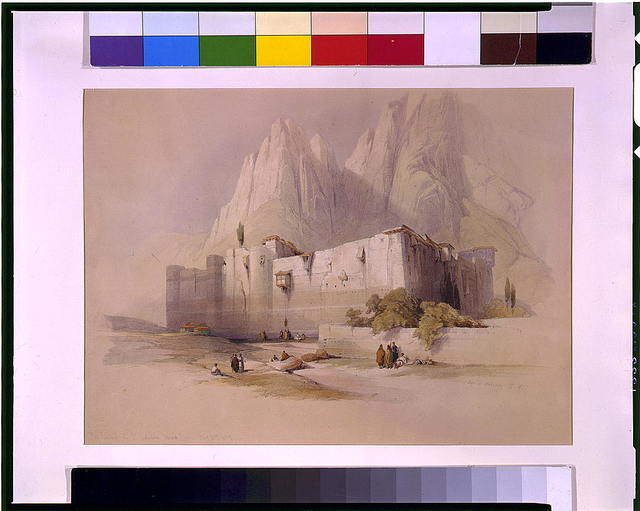 The convent of St. Catherine Mount Sinai Feb 21st 1839 / David Roberts, R.A.
