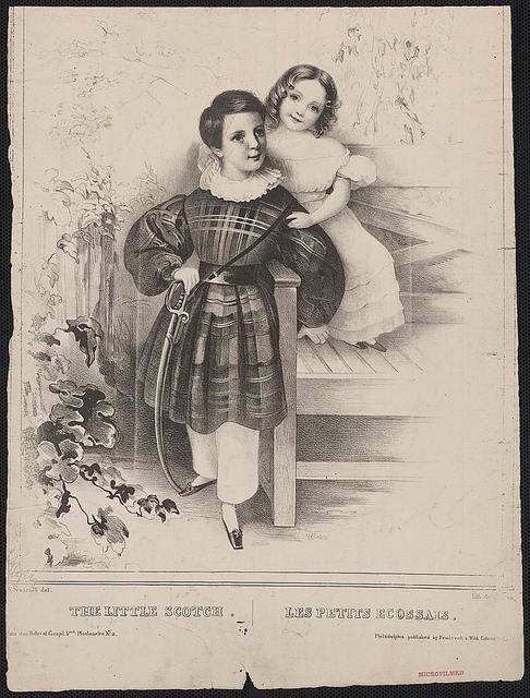 The little Scotch Les petits Ecossais / / Ch. Fenderich del.