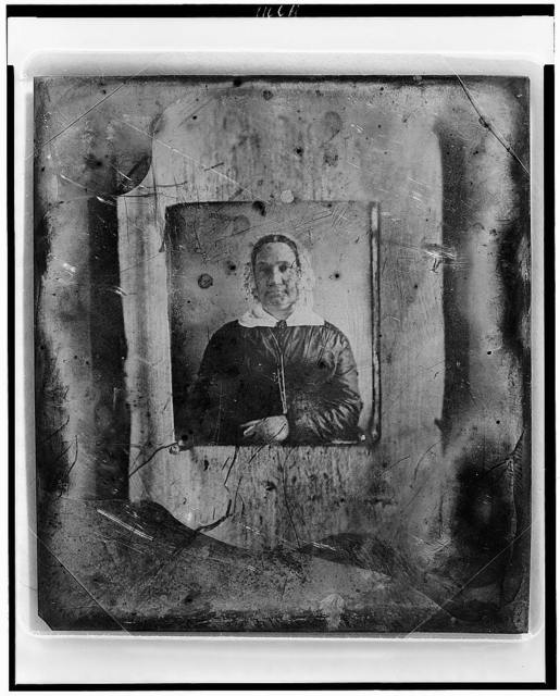 [Unidentified copy of a daguerreotype portrait of a woman]