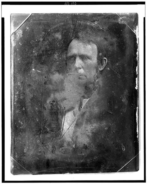 [Unidentified man, about 30 years of age, head-and-shoulders portrait, three-quarters to the right]