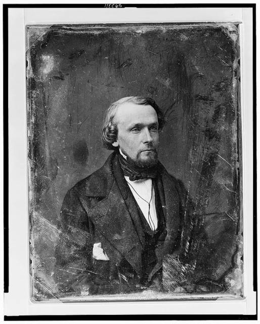 [Unidentified man, about 30 years of age, head-and-shoulders portrait, three-quarters to the right, with slight beard]