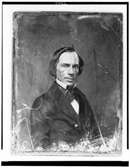 [Unidentified man, about 40 years of age, head-and-shoulders portrait, three-quarters to the right, facing front]