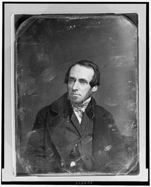[Unidentified man, about 45 years of age, half-length portrait, facing left, with sideburns]