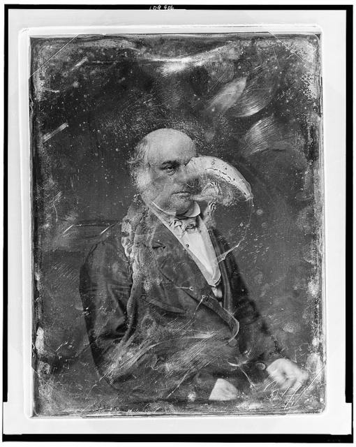[Unidentified man, about 60 years of age, half-length portrait, three-quarters to the right, hands in lap]