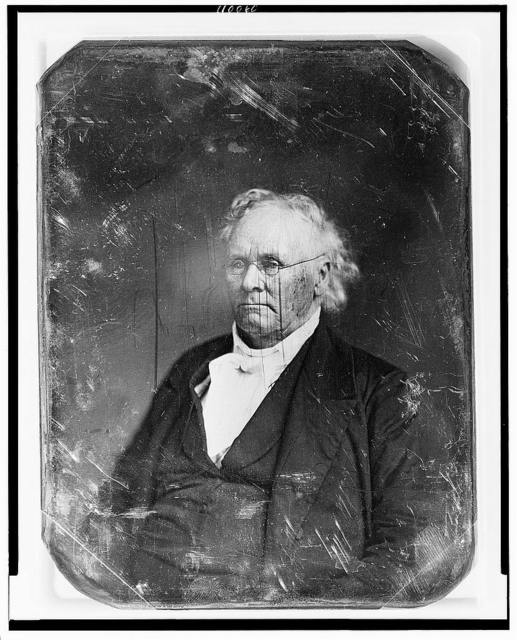 [Unidentified man, about 75 years of age, half-length portrait, three-quarters to the left, wearing spectacles]