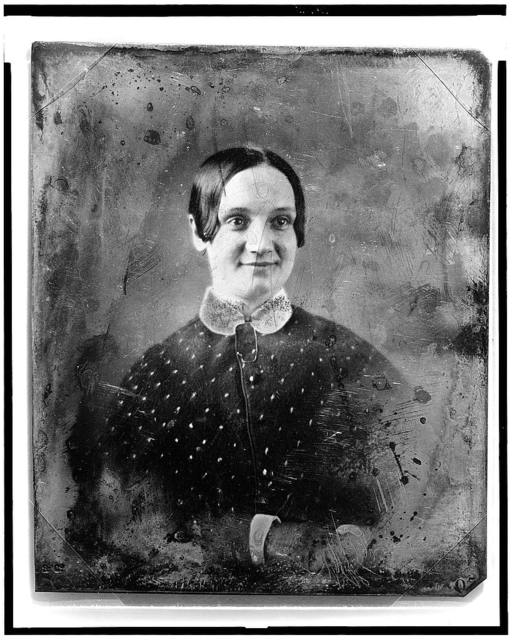 [Unidentified woman, head-and-shoulders portrait, facing slightly right]
